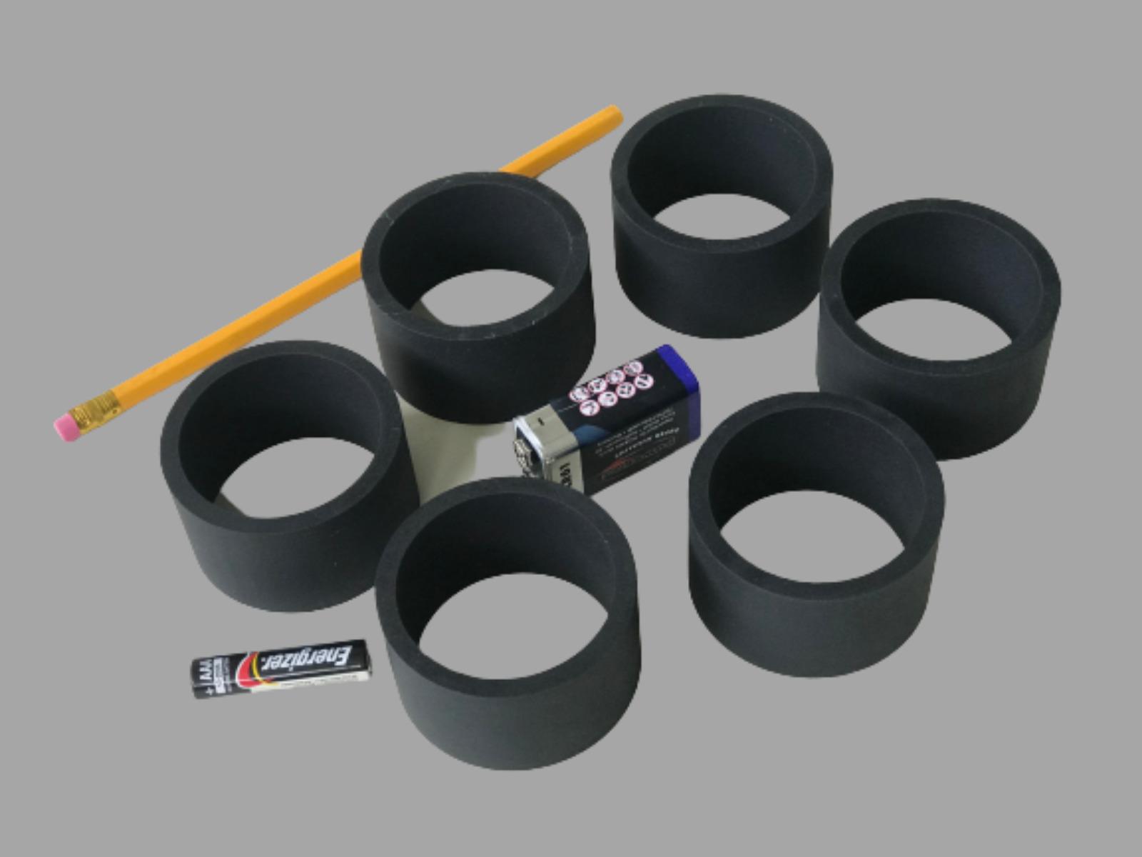 Hollow HTS cylinder targets